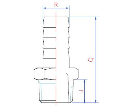 RF slöngunippill