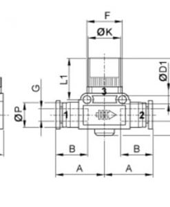 Aventics QR1-ASC lokar teikning